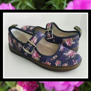 DR MARTENS Vegan Carnaby Floral Mary Jane Shoes